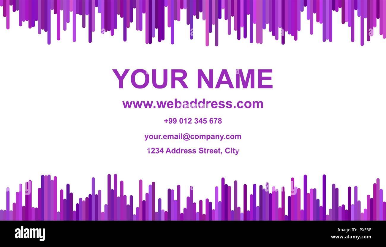 Modern Abstract Business Card Template Design