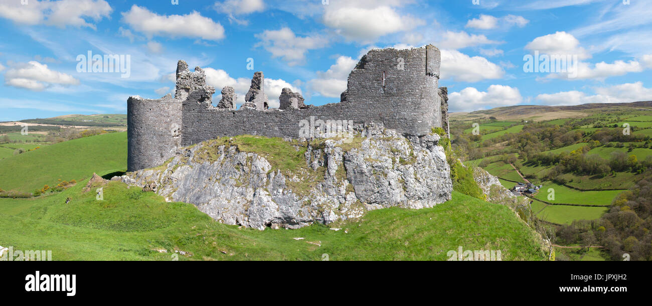 Carreg Cennen Castle, Carmarthenshire, Wales, UK - Stock Image