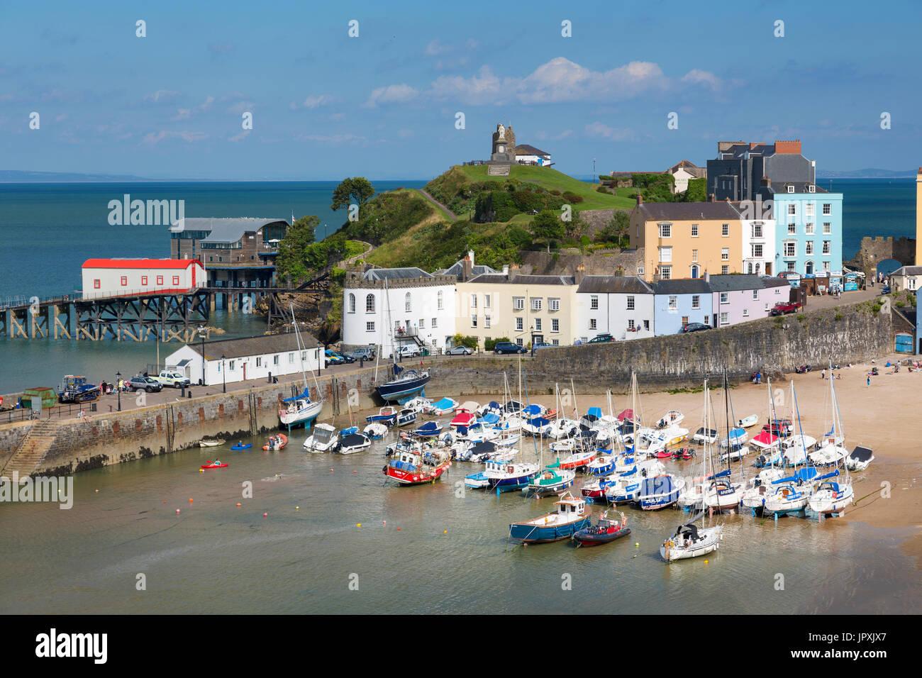 Tenby Harbour,  Carmarthenshire, Wales, UK - Stock Image