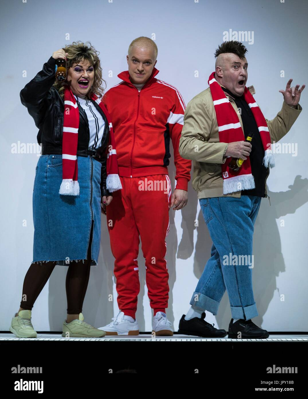 Edinburgh, UK. 02nd Aug, 2017. Edinburgh International Festival's Opera season opens with Mark-Anthony Turnage's Greek. The acclaimed young British baritone Alex Otterburn stars as anti-hero Eddy, alongside revered British singers Susan Bullock, Allison Cooke and Andrew Shore. Credit: Rich Dyson/Alamy Live News - Stock Image