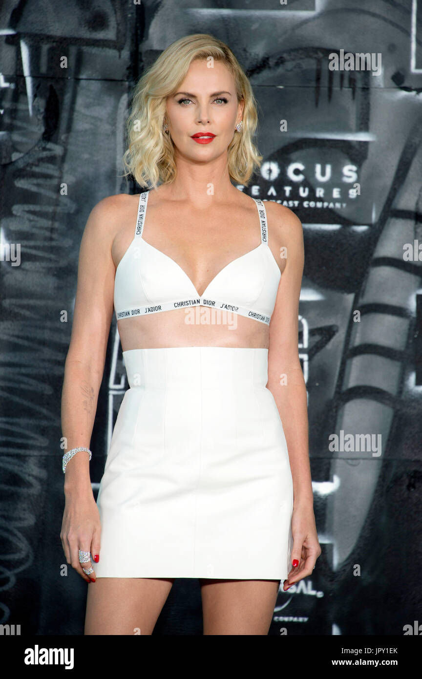 Charlize Theron attends the 'Atomic Blonde' world premiere at Stage Theater Potsdamer Platz on July 17, 2017 in Berlin, Germany. - Stock Image