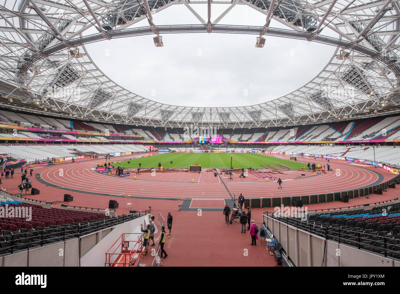 London, UK. 2nd Aug, 2017. General view of the London Stadium ahead of The IAAF World Championships London 2017 Stock Photo