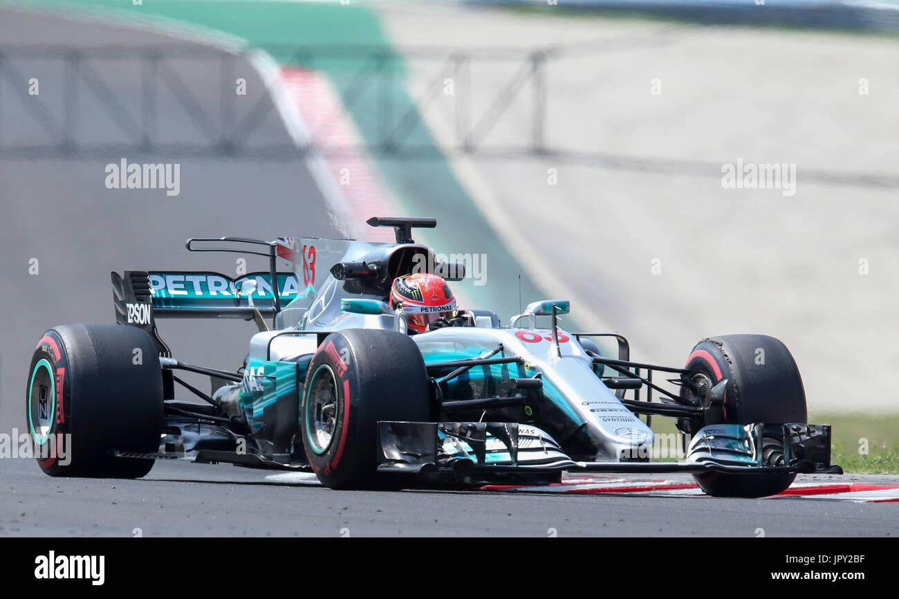 Budapest, Hungary. 2nd Aug, 2017. August 2nd 2017, Hungaroring, Budapest, Hungary; Formula One In Season test; George - Stock Photo