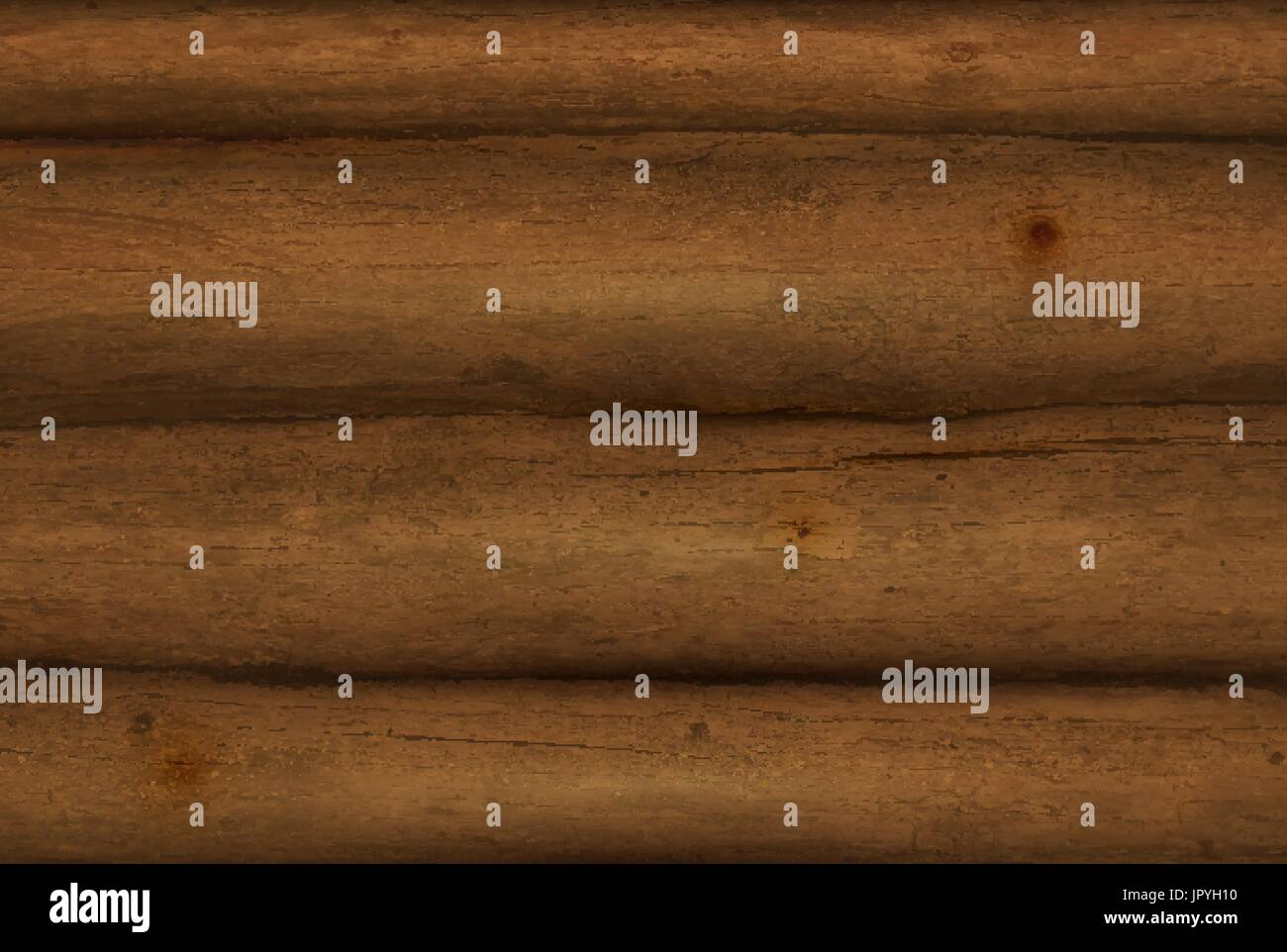 Realistic  Wooden Logs.  Vector background - Stock Vector