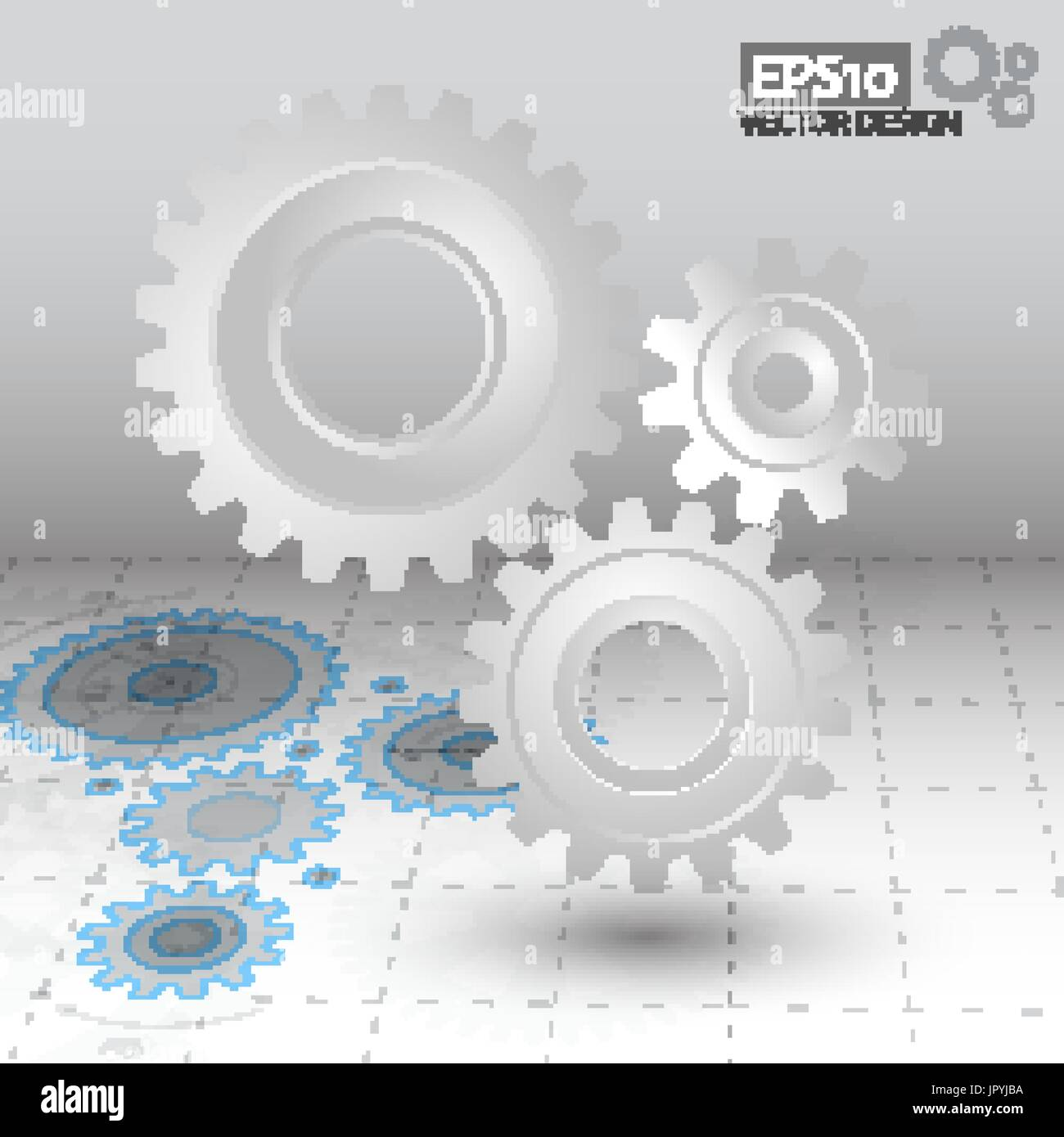 White 3d gears on the gray blueprint background infographic stock white 3d gears on the gray blueprint background infographic template cover template vector design eps10 malvernweather Gallery