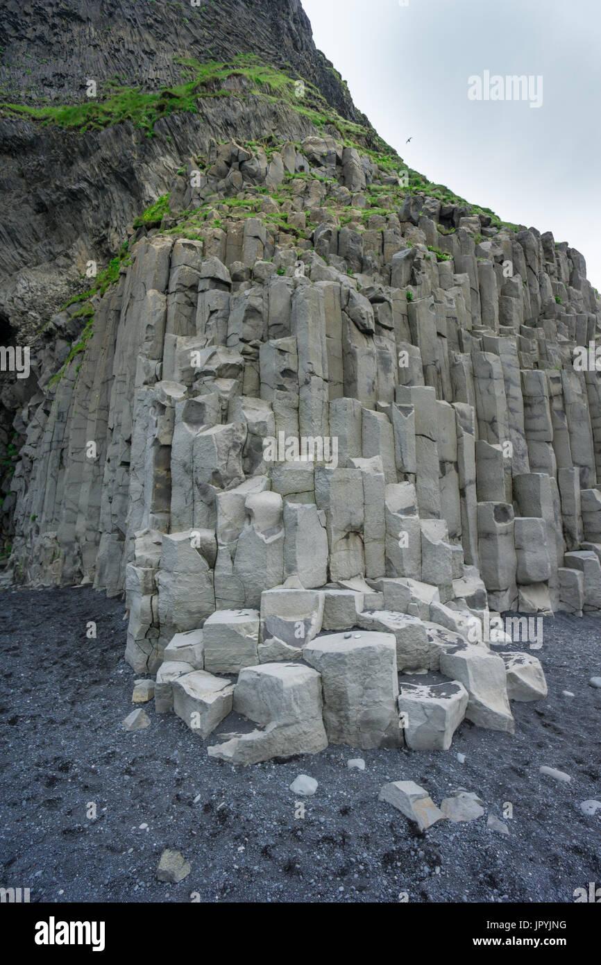 Basalt Columns Iceland : Basalt columns vik iceland stock photos