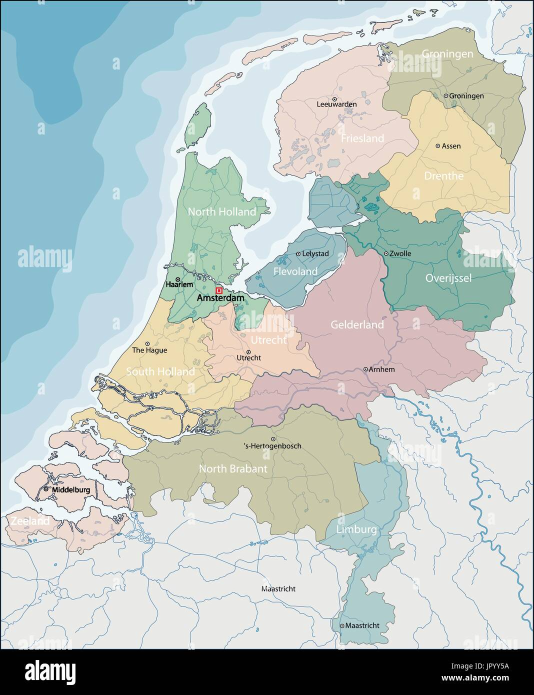 Rotterdam Map Holland Boundary Stock Photos & Rotterdam Map Holland ...