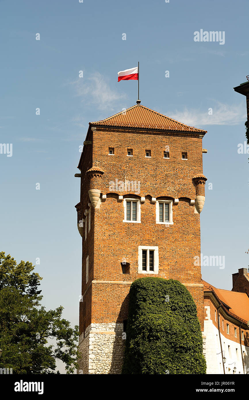 Tower of Wawel Castle in Krakow (Poland) Stock Photo