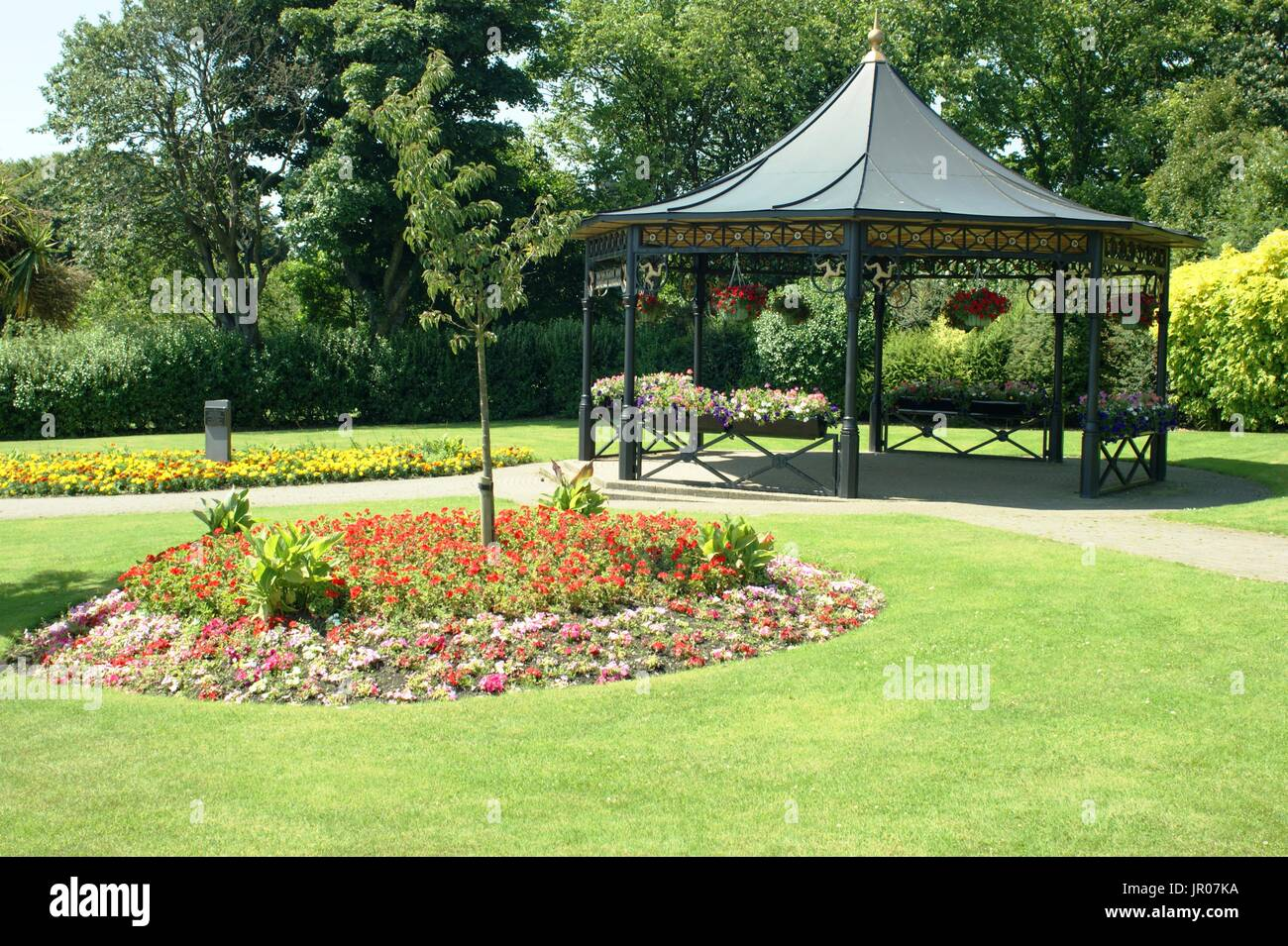 The Bandstand at Nobles Park, Douglas Isle of Man - Stock Image