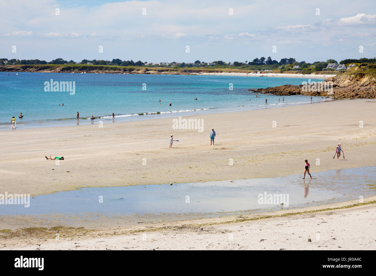 Brittany beach - Raguenez beach, Finistere, Brittany, northern France, Europe - Stock Image