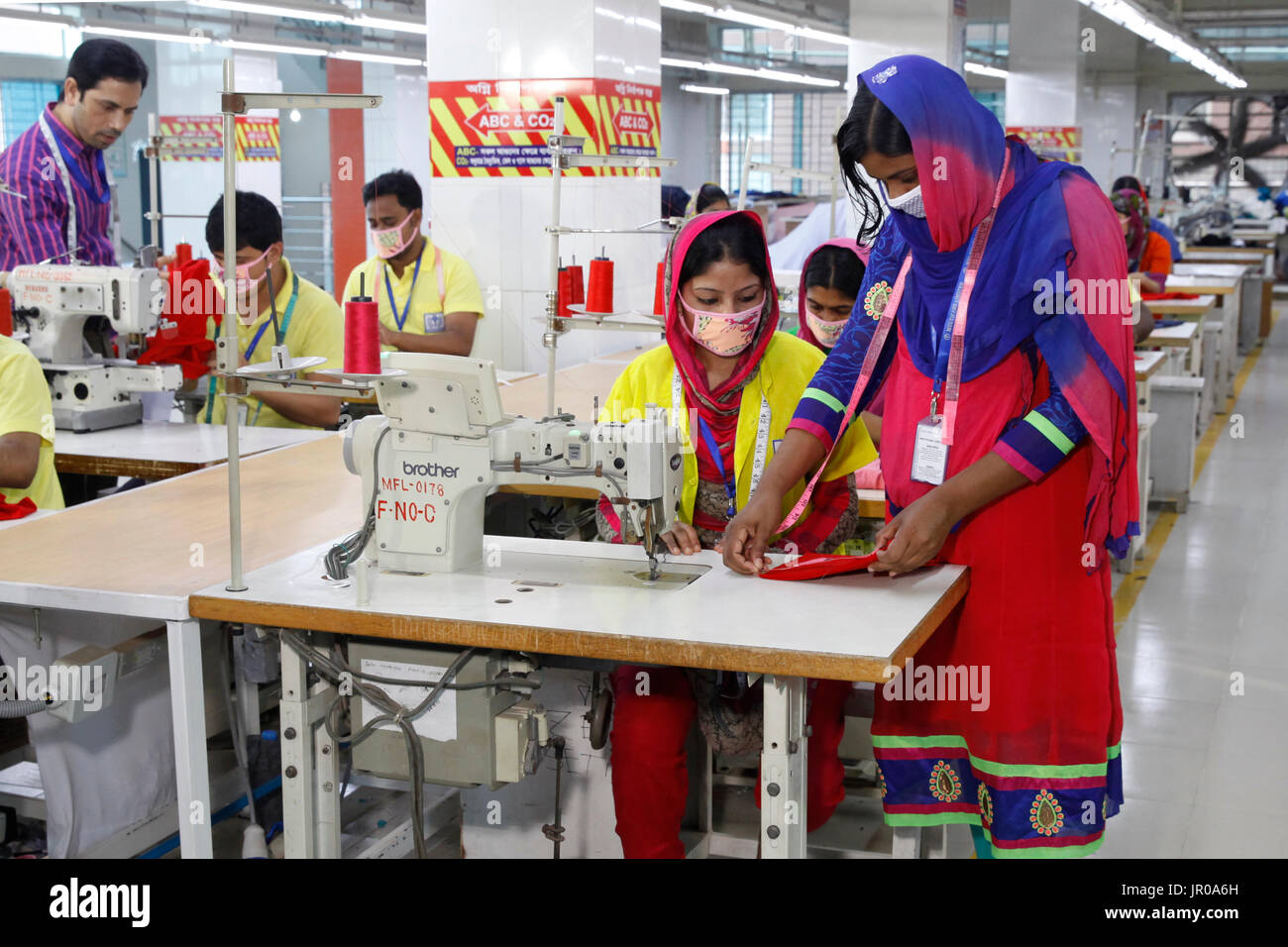 Ready-Made Garment workers having knit training in a factory in