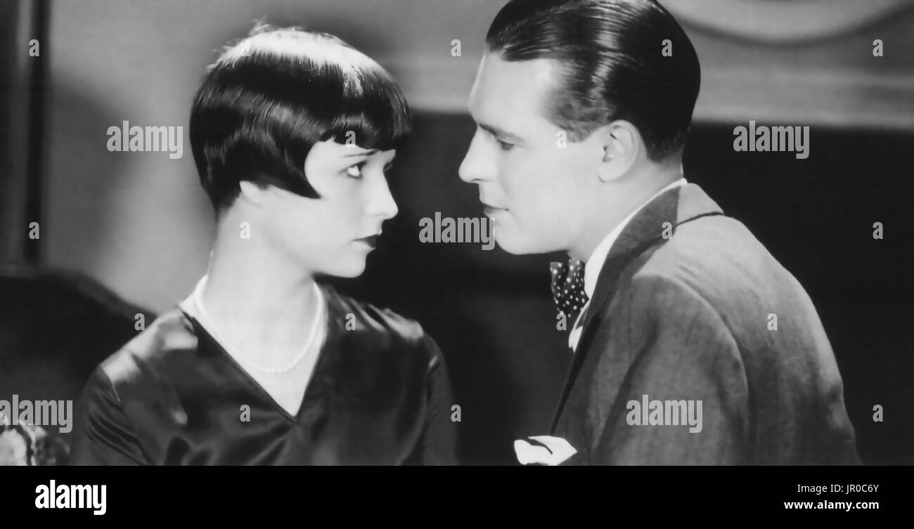 LOVE 'EM AND LEAVE 'EM 1926 Paramount Pictures silent film with Louise Brooks and Lawrence Gray - Stock Image