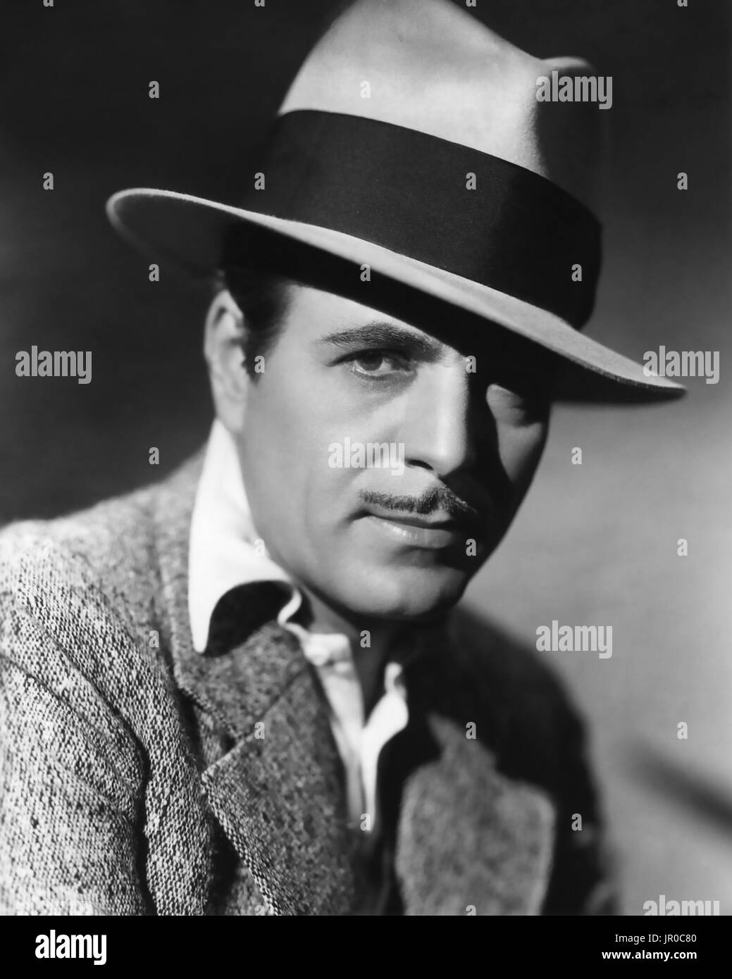 WARNER BAXTER (1889-1951) American film actor - Stock Image