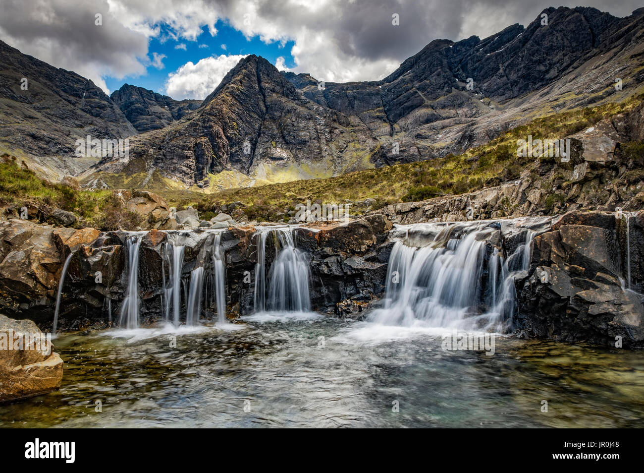 Fairy Pools Waterfalls; Glenn Brittle, Isle Of Skye, Scotland - Stock Image