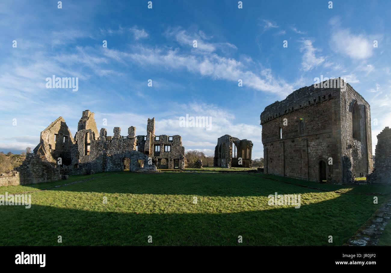 Egglestone Abbey; Yorkshire, England - Stock Image