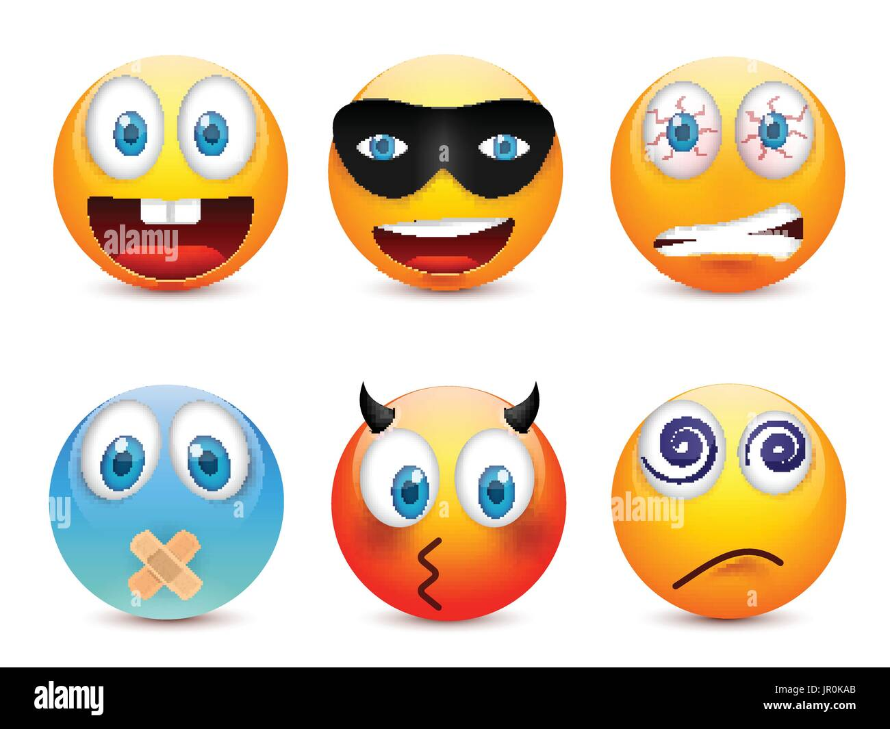 faces smileys smiley head cut out stock images & pictures - alamy
