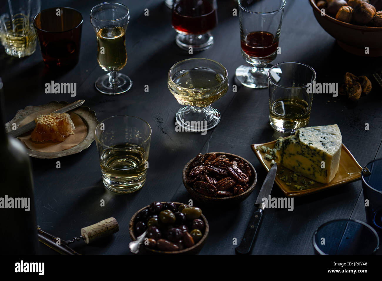 party setup, dinner, party - Stock Image