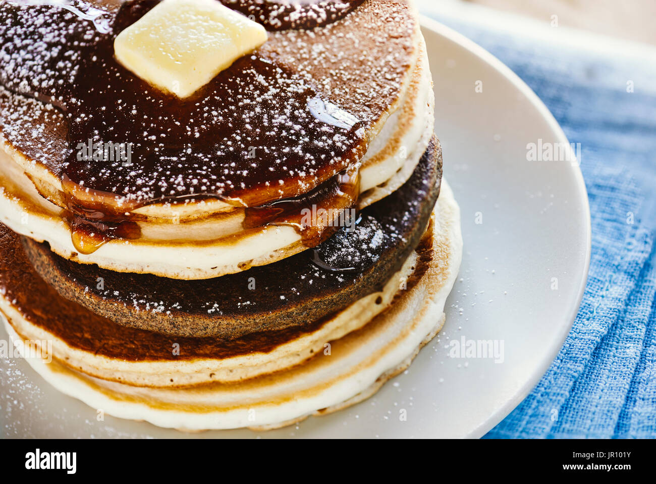 Pancakes, multigrain pancakes Stock Photo