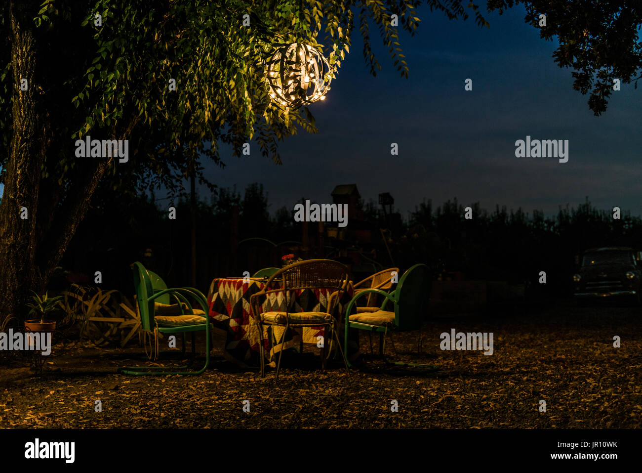 life in Lake County, CA, Friends,Parties,Good Times - Stock Image