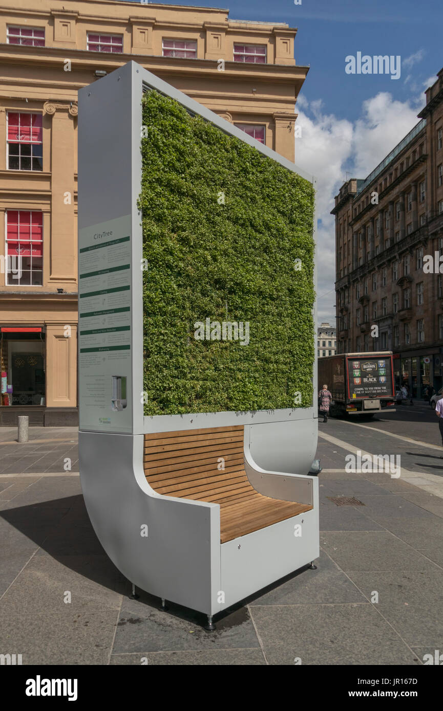 City Tree biological air filter, Royal Exchange Square, Glasgow, Scotland, UK - Stock Image