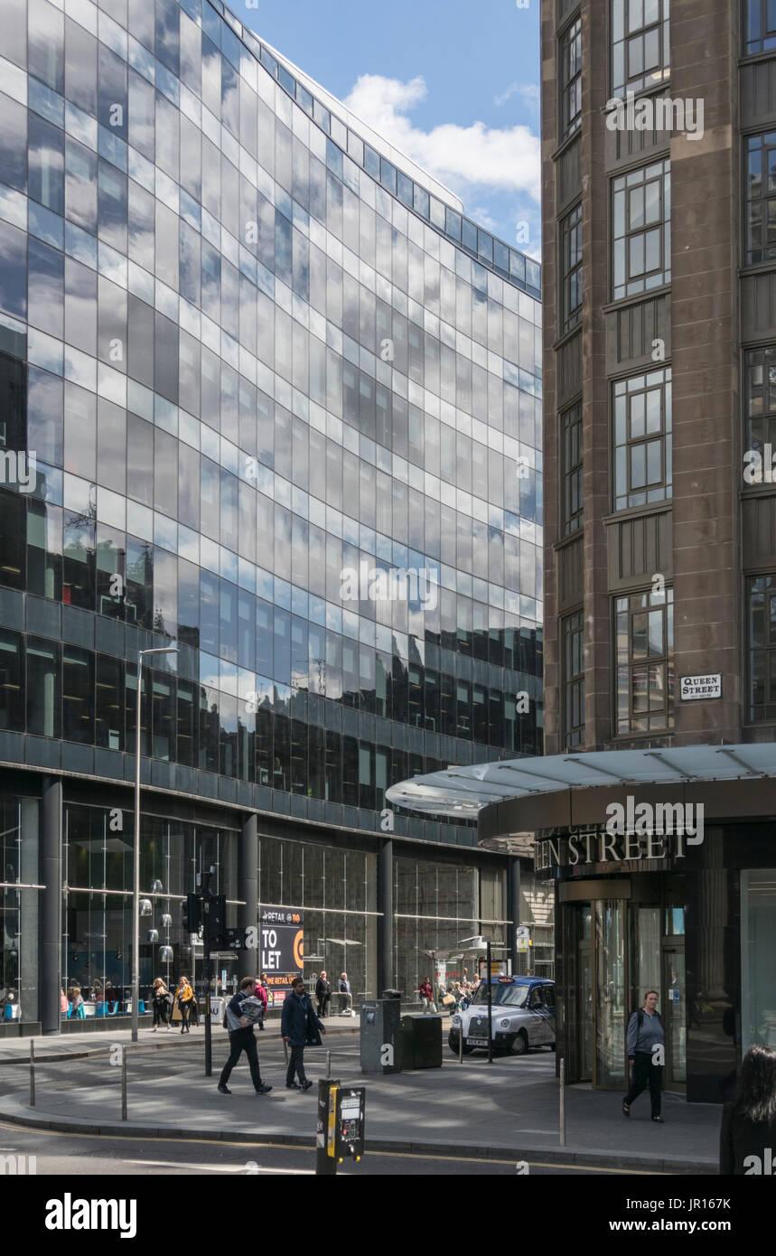 Major new build development in Glasgow city centre, Glasgow, Scotland, UK - Stock Image