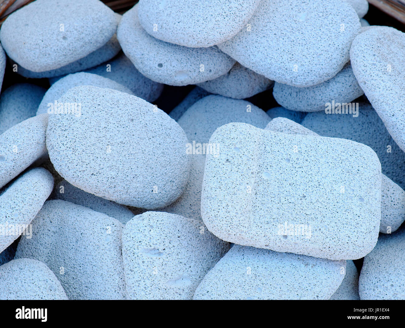 Natural volcanic pumice for sale, origin, Aegean Sea, Cyclades, Greece. - Stock Image