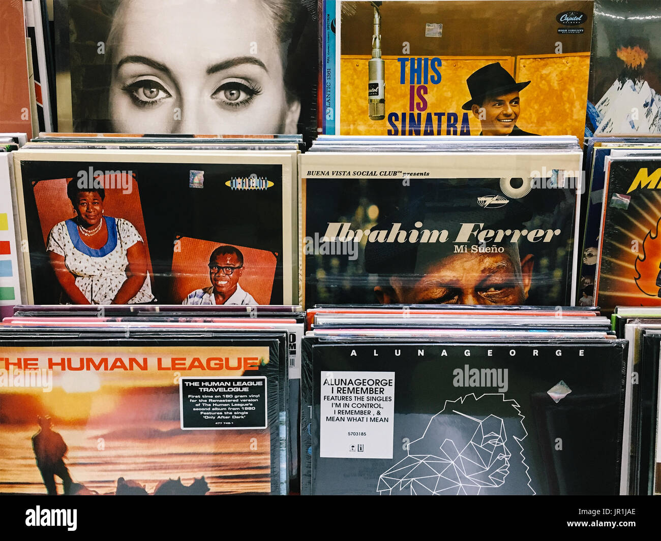 MAY 06, 2017: Vinyl Record Cases Of