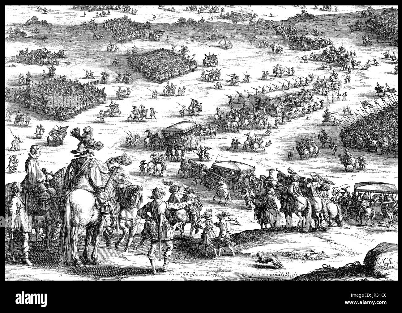 The Siege of Breda of 1624-25 occurred during the Eighty Years' War. Following the orders of Ambrogio Spinola, Philip IV's army laid siege to Breda in August 1624. The strategically located city was heavily fortified and strongly defended by a garrison of 7,000 men, that the Dutch were confident would hold out long enough to wear down besiegers. Spinola launched his Breda campaign, rapidly blocking the city's defenses and driving off a Dutch relief army that had attempted to cut off the Spanish army's access to supplies. In February 1625, a second relief force, consisting of 7,000 English troo - Stock Image