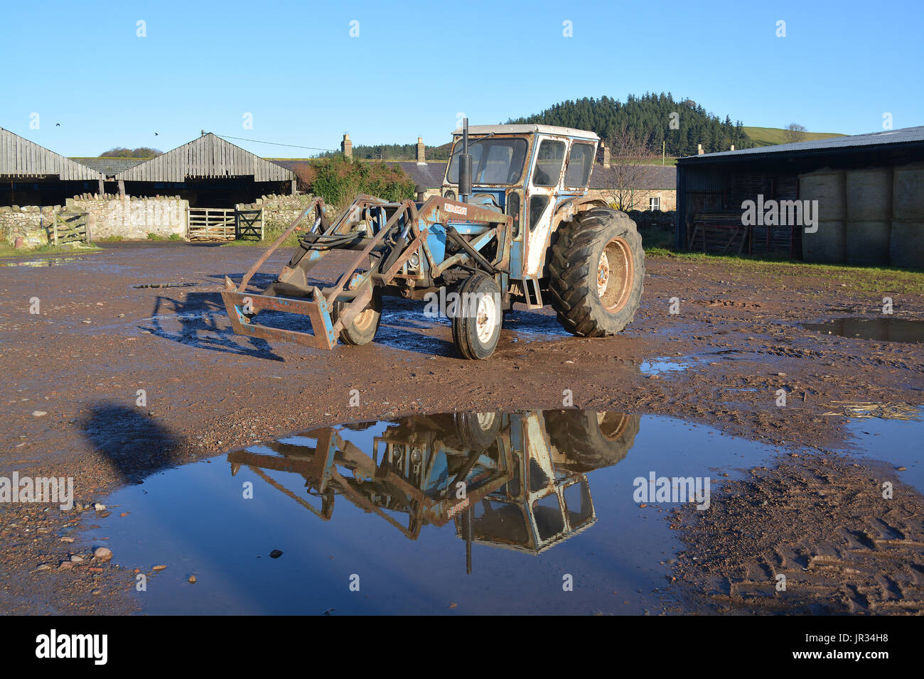 1970 Ford 4000 Tractor - Stock Image