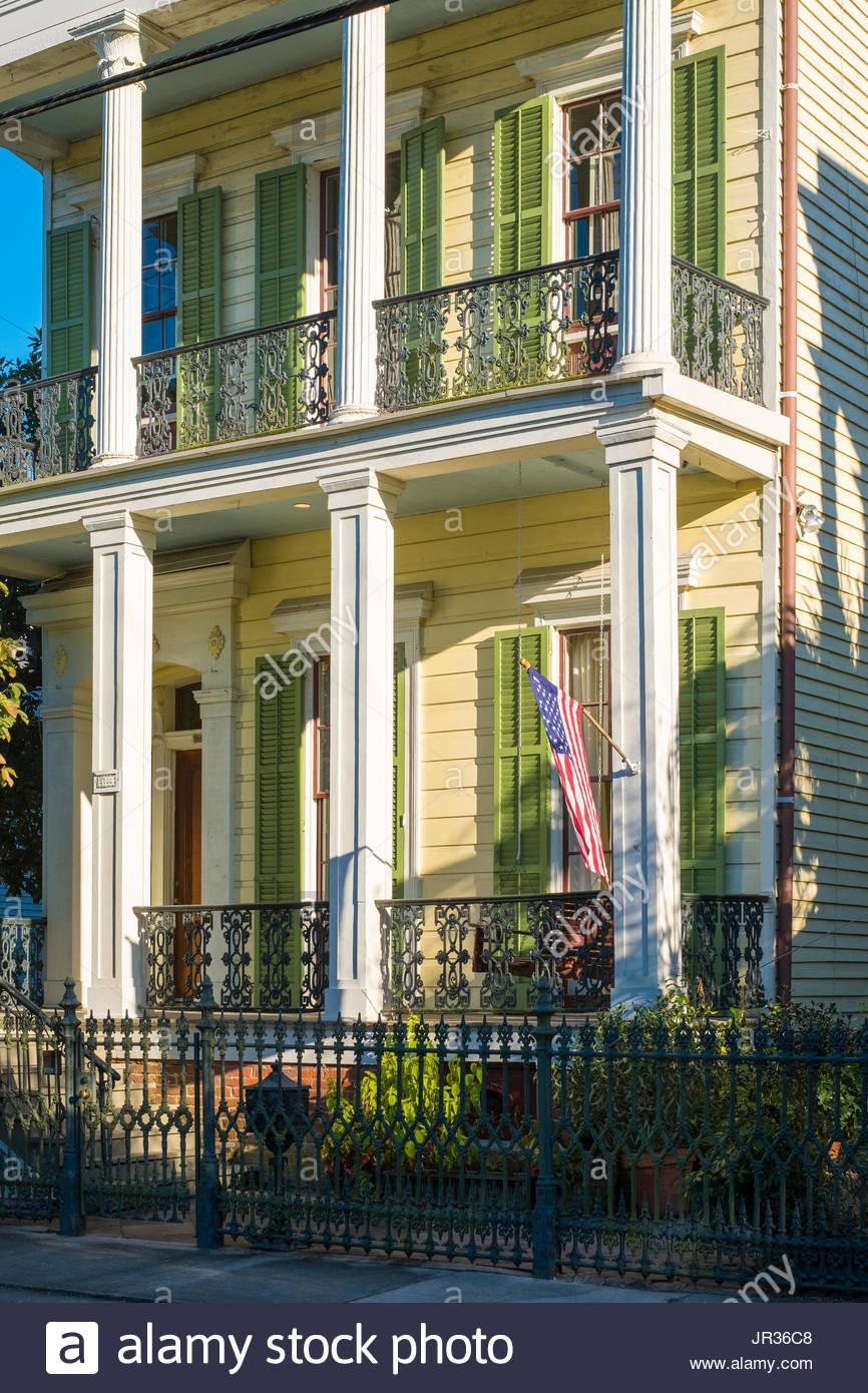 United States, Louisiana, New Orleans. Houses In The Garden District.    Stock
