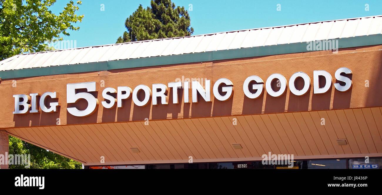 Big 5 Sporting Goods store, California, USA - Stock Image