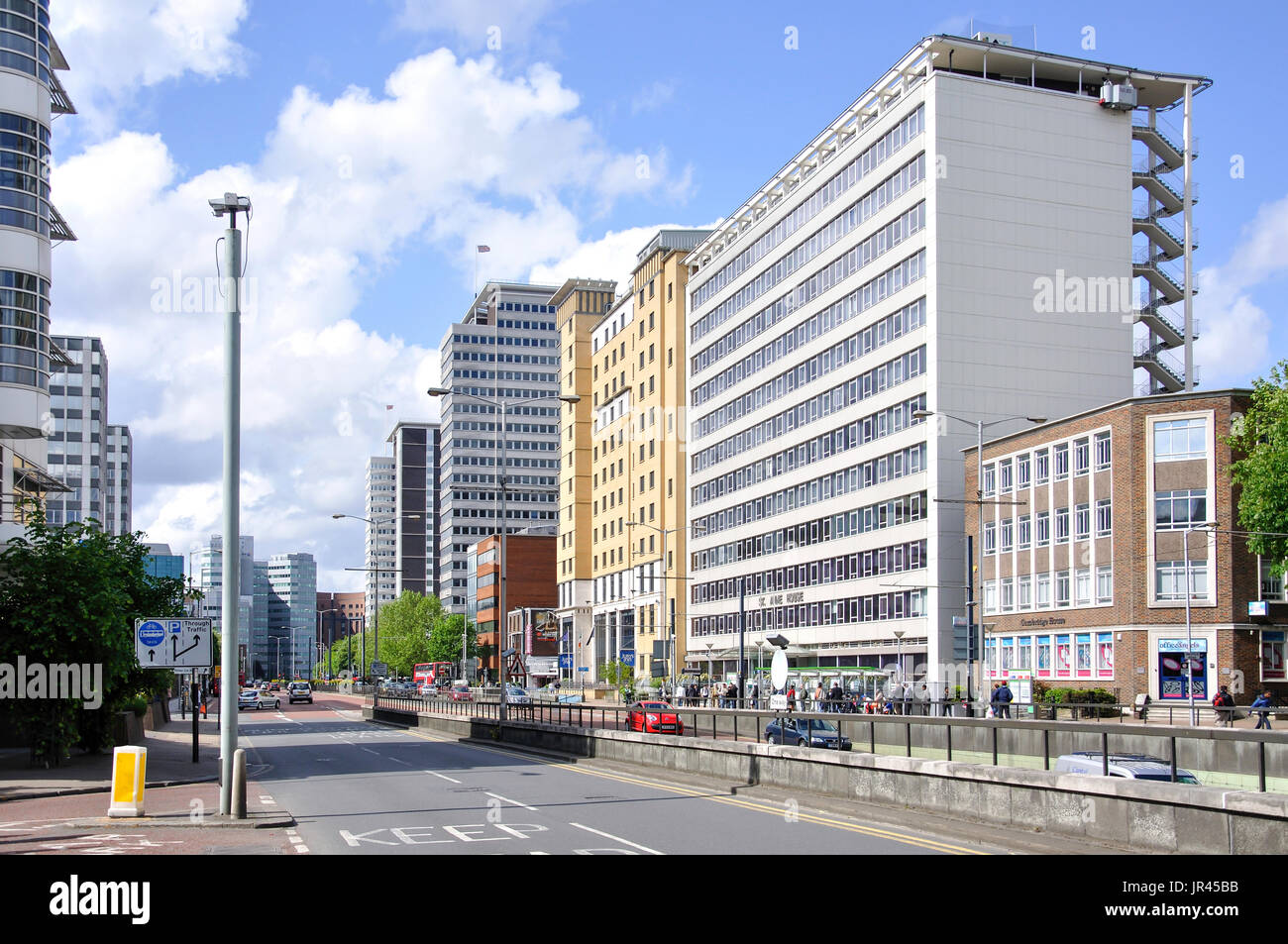 Wellesley Road, Croydon, London Borough of Croydon, Greater London, England, United Kingdom - Stock Image
