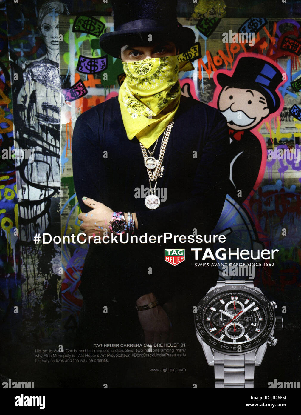 Tag Heuer Uk >> 2010s Uk Tag Heuer Magazine Advert Stock Photo 151912984