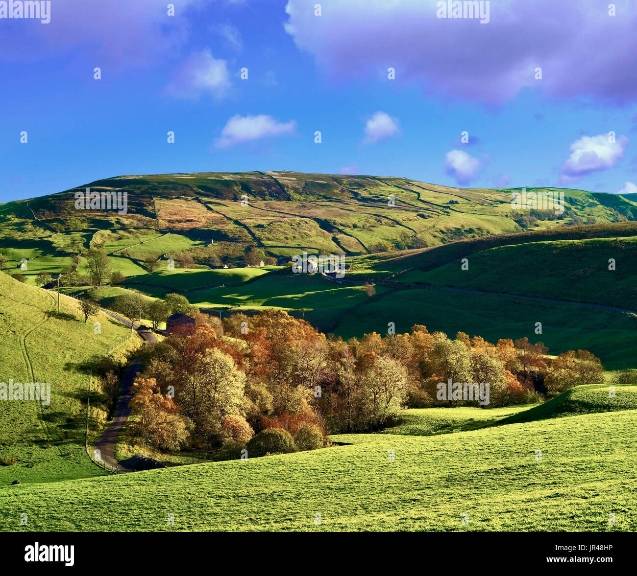 An autumn view of the Swaledale landscape in Yorkshire, England - Stock Image