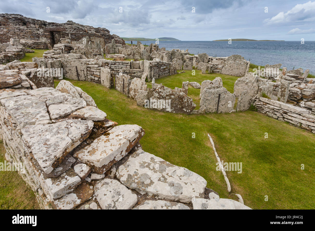 The Broch of Gurness, Orkney neolithic site Stock Photo
