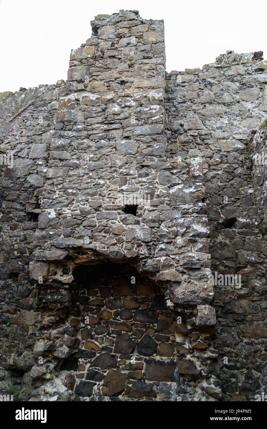 Dunluce Castle, Northern Ireland - Stock Image