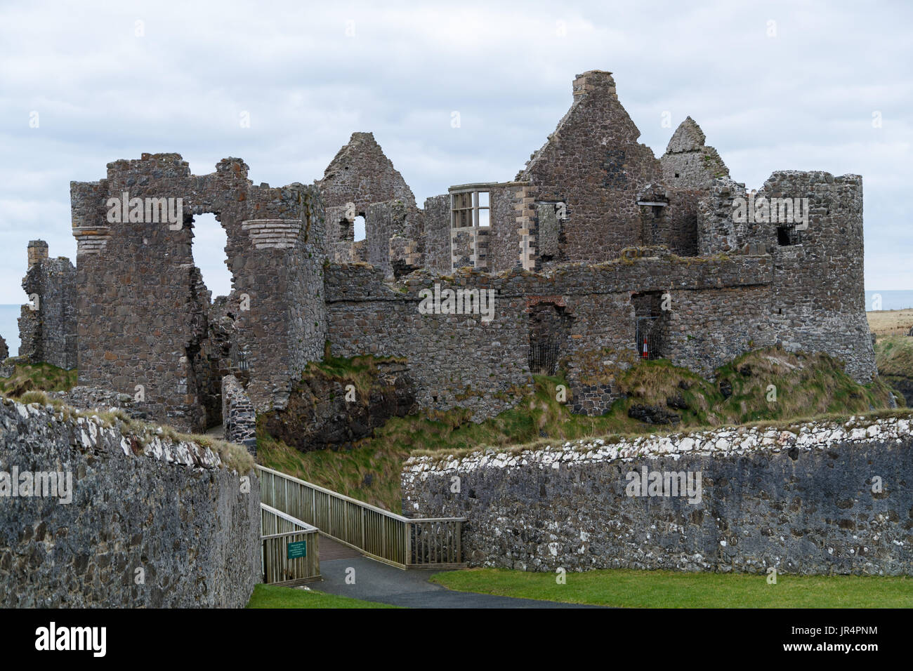 Dunluce Castle, Northern Ireland - Stock Image