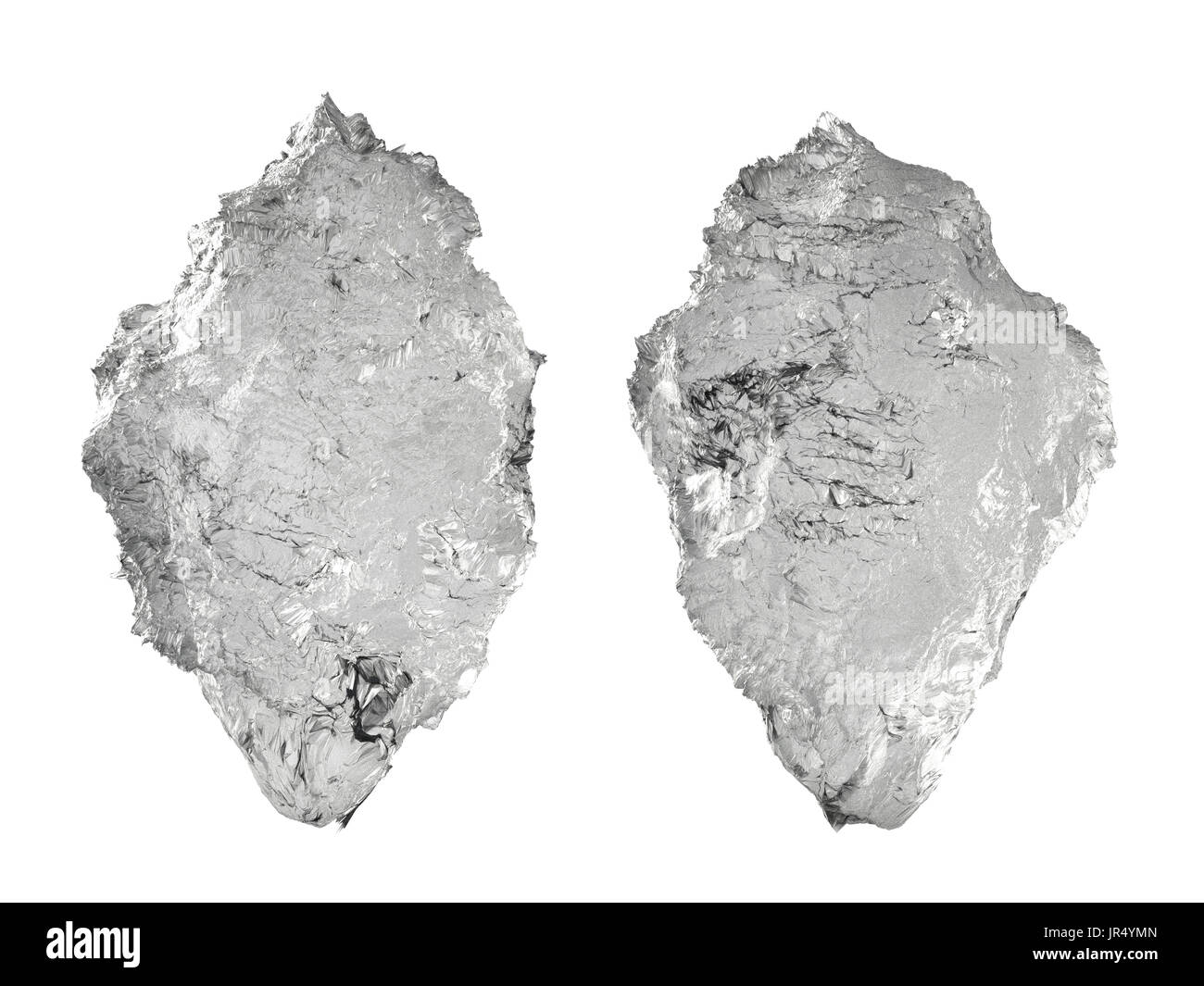 3d rendering crystal iceberg isolated on white - Stock Image