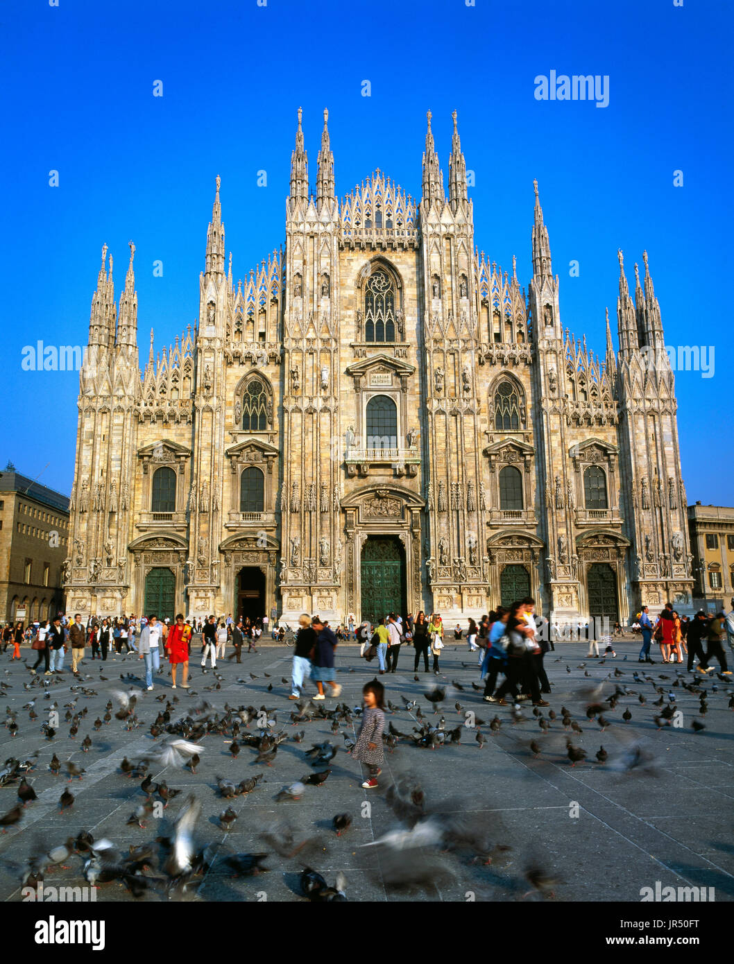 Duomo di Milano cathedral, Milan, Lombardy, Italy - Stock Image