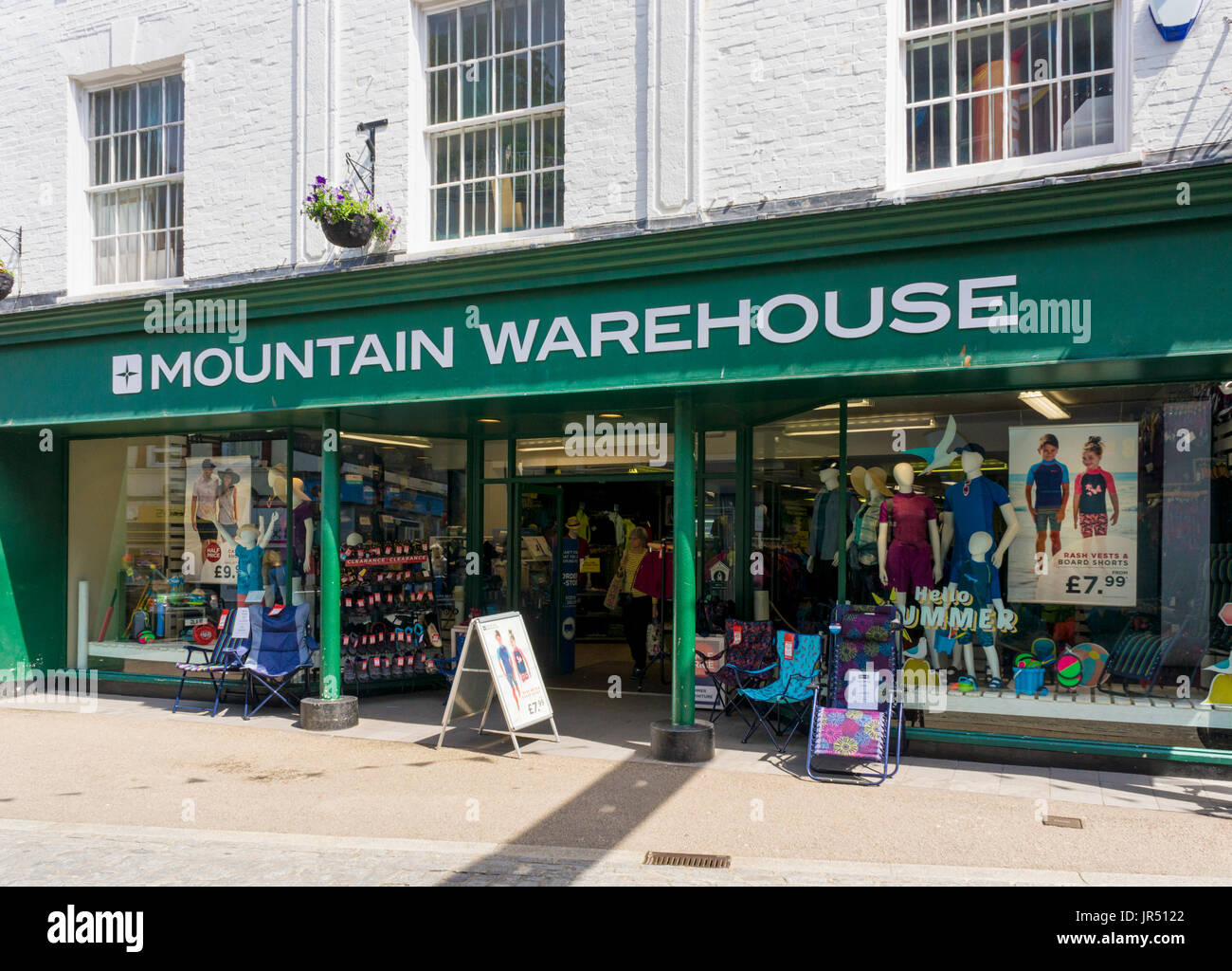 Mountain Warehouse store, England, UK - Stock Image