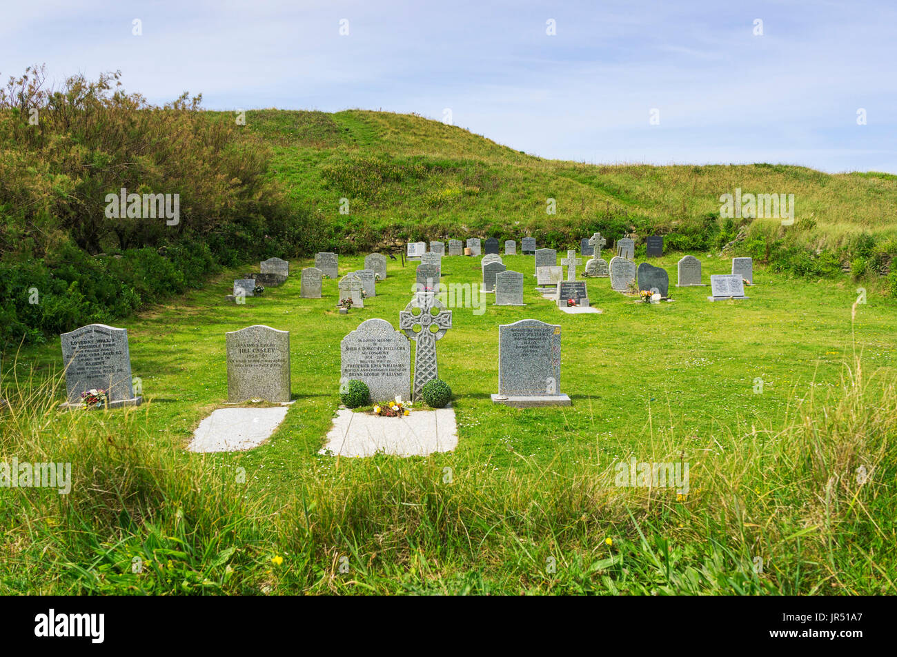 Small graveyard in the country, England, UK - Stock Image