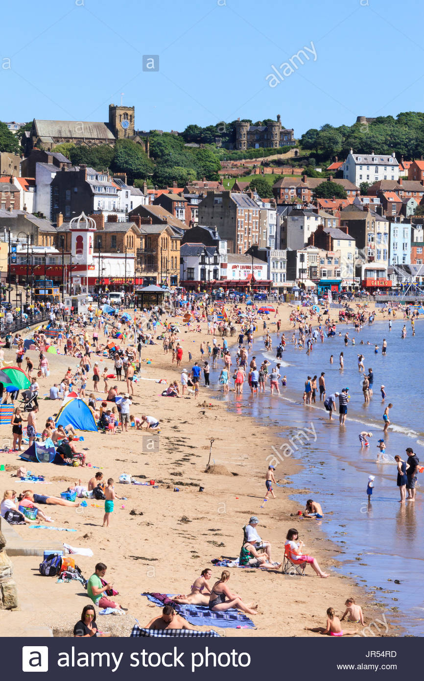 Beach South Bay Scarborough North Yorkshire England UK - Stock Image