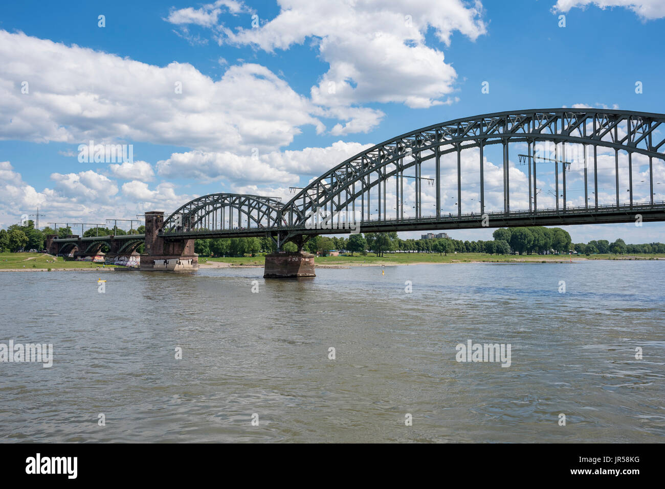 Südbrücke, connecting the city of Cologne with the district of Cologne-Deutz, Cologne, North Rhine-Westphalia, Germany - Stock Image