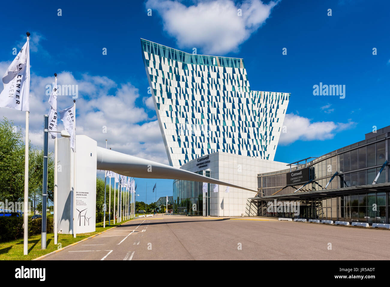 AC Bella Sky Marriott Hotel and Comwell Convention Center in the Orestad district of Copenhagen Denmark - Stock Image