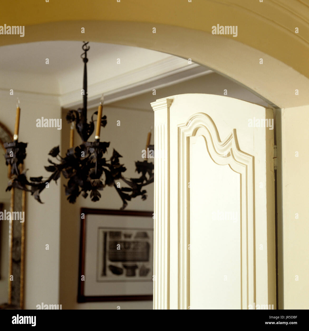 Chandelier behind a doorway stock photo 151940307 alamy chandelier behind a doorway aloadofball Gallery