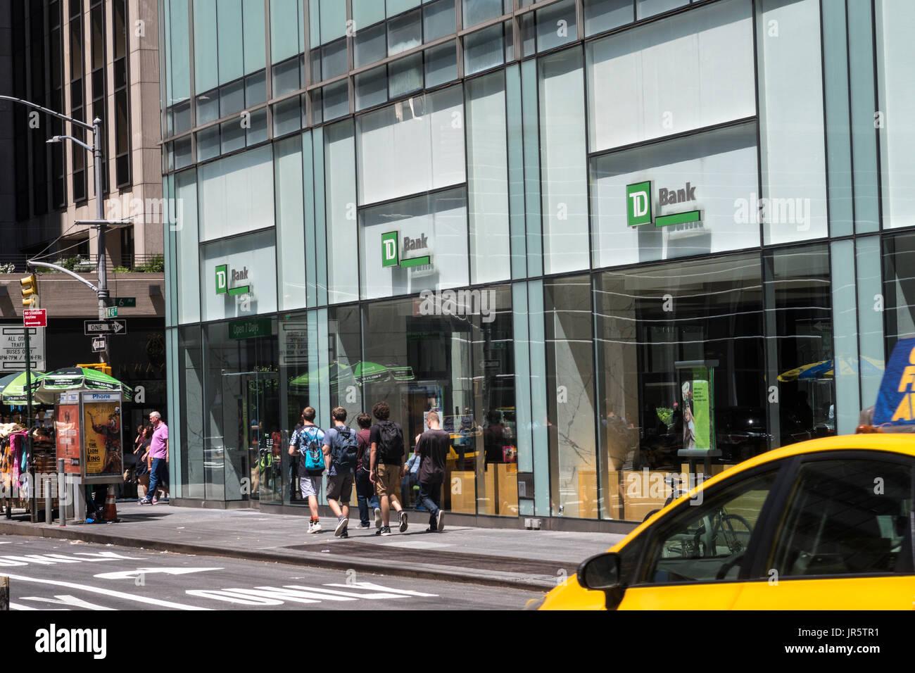 TD Bank, NYC, USA - Stock Image