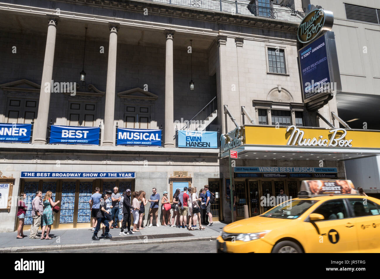 Music Box Theatre Marquee, Times Square, New York City, USA - Stock Image