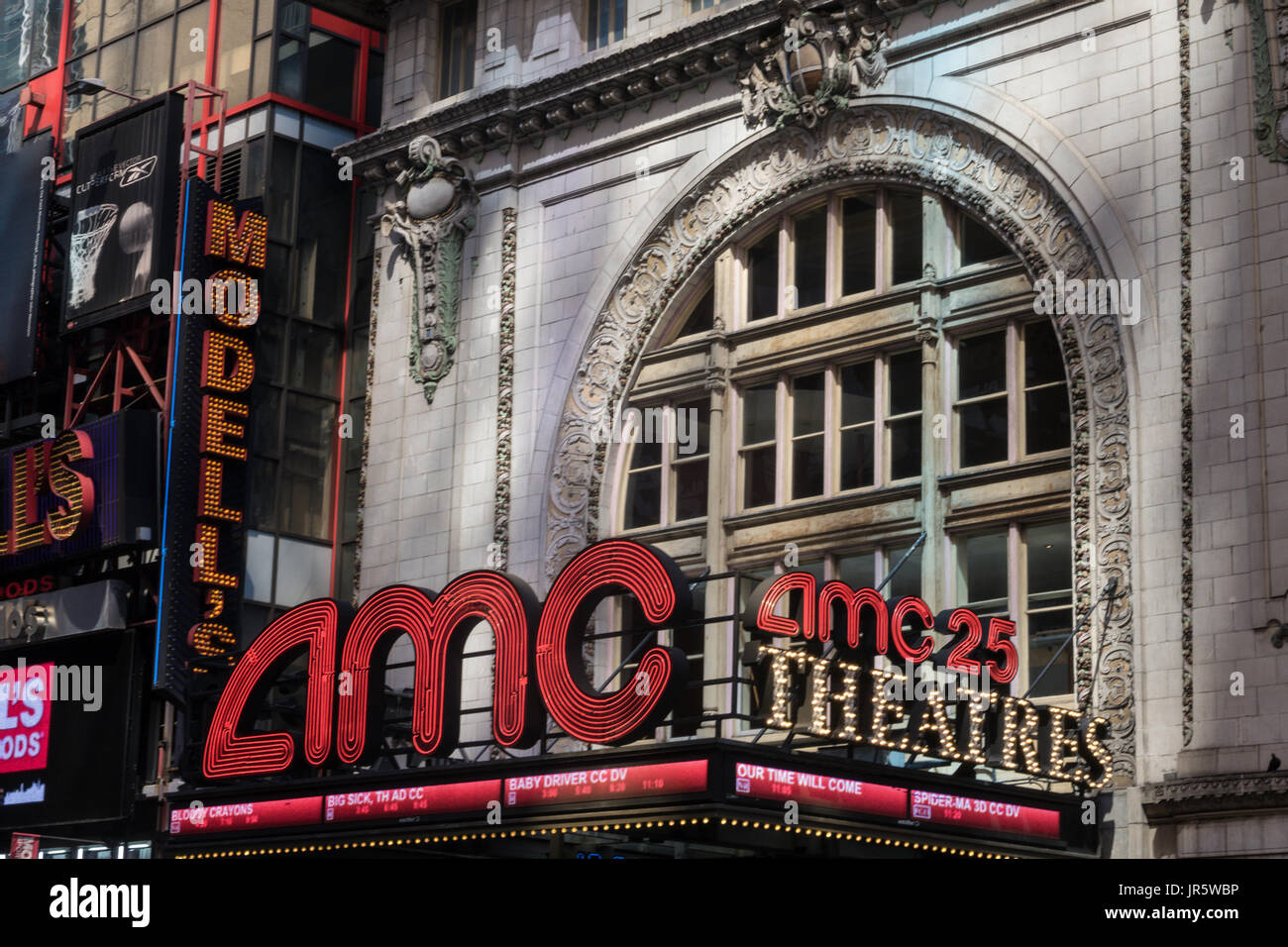 AMC Empire 25 Movie Theater in Times Square, NYC, USA - Stock Image