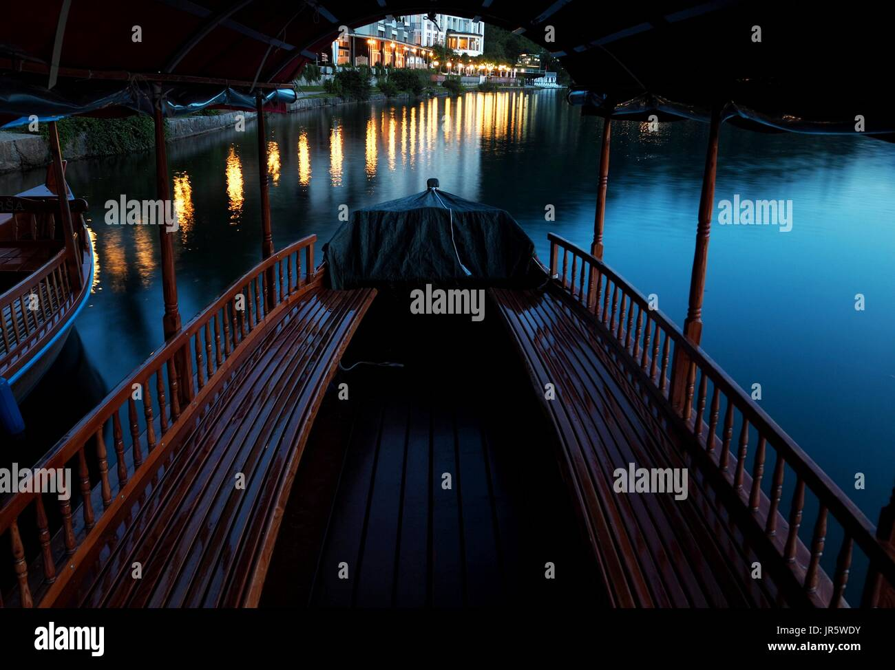 A calm evening in Bled, Slovenia Stock Photo