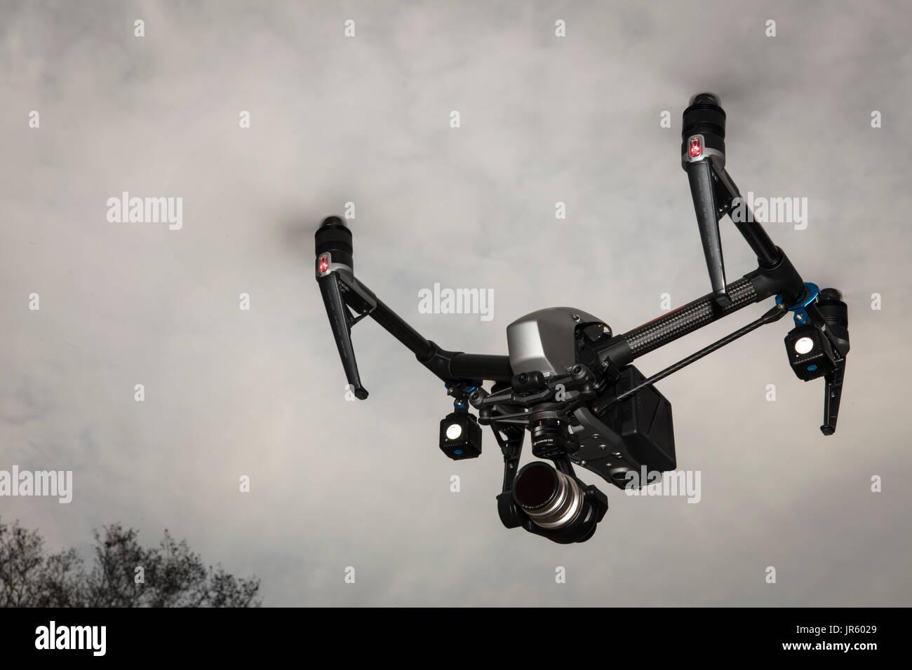 Inspire flying - Stock Image